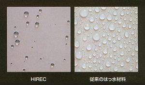 超撥水材料 HIREC®