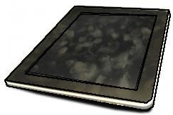 指紋汚れにさらされるタブレットPC端末