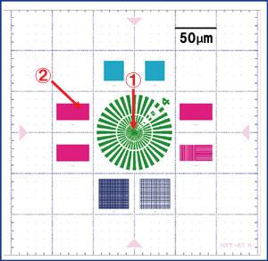 厚膜高解像度タイプ:XRESO-50HC パタンレイアウト