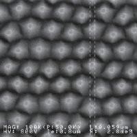 Si金型原版パタン形成例 ×100,000