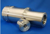 望遠鏡用ミラーユニット(奥) 顕微鏡用ミラーユニット(手前)